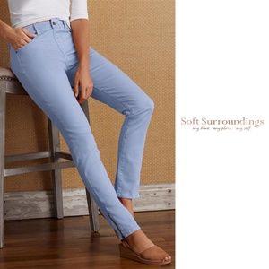 Soft Surroundings 5 Pocket Pull-On Ankle Leggings